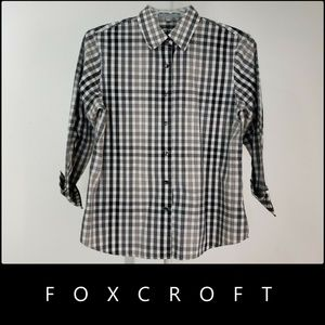 Foxcroft Woman Wrinkle Free Shape Fit Blouse Shirt